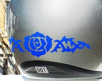 Tribal Rose Reflective Decal Set / Rose Helmet Stickers / Rose Motorcycle Stickers / Bike Helmet Rose Decal / Rose Helmet Sticker / #697R