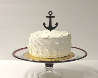 MADE In USA, Anchor Wedding Cake Topper Nautical Wedding Cake Decoration Wedding Beach Themed Cake Topper Nautical Anchor Cake Topper
