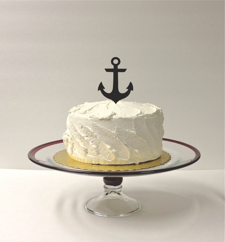 MADE In USA Anchor Wedding Cake Topper Nautical Wedding Cake