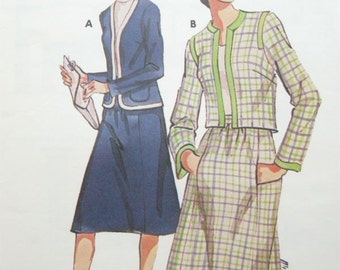 Kwik Sew 778 Ladies Two Piece Suit Skirt and Jacket Vintage Sewing Pattern Bust 38