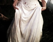 Fairytale Fantasy Dress - 3 Piece Ivory Medieval Renaissance Wedding Gown with Reversible Bodice - custom size