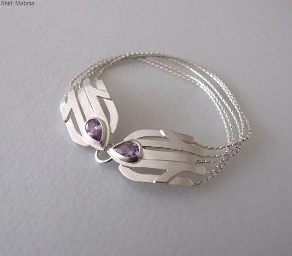 Silver Statement Bracelet - statement bracelet , silver bracelet , gemstone bracelet