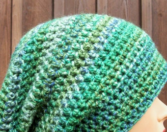 ladies crochet slouch hat womens slouch hat girls crochet slouch hat green lemon lime youth adult 9251