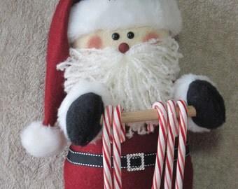 """Santa pattern:  """"Santa Candy Cane Holder"""" - #641"""