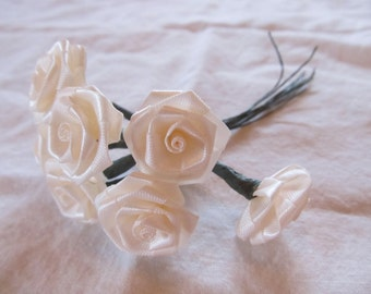 blush MILLINERY ROSES  -- 8 stems, 4 inches long