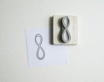Snake Infinity Symbol Hand-Carved Rubber Stamp