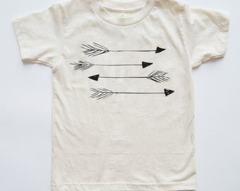 SALE | Arrows | Size 7 - 8 Years | Organic Kids Tee | Fair Trade | Toddler | Unisex Kids Shirt | Screenprinted Top | Hipster Clothing