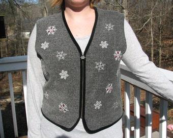 Christmas, christmas vest, christmas sweater, snowflake, snowflake vest, snowflake vest, tacky sweater, tacky vest, tacky christmas