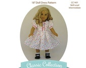 Sweet Essentials Doll Dress PDF Sewing Pattern Instant Download by MyAngieGirl