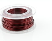 25% OFF!! WIRE - 26g (AWG) Burgundy - Enamel Copper Wire - 30 yard spool.