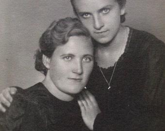 Vintage 1940's Photo - Two Women