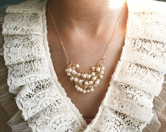 Pearl Necklace, Bridal Jewelry, Bridal Necklace, Wedding Necklace