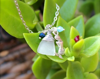 Mermaid Jewelry from Hawaii - Sea Glass Necklace - Ocean Inspired Hawaiian Jewelry - Mermaid Necklace - Sea Glass Jewelry by Mermaid Tears