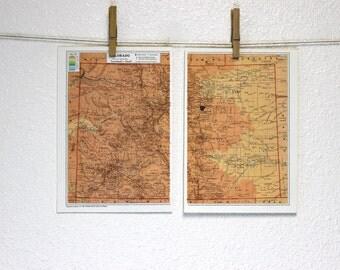 Map of Colorado - 1958 original prints