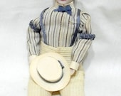 Vintage Handmade Doll House Doll Dad Husband Man Miniature