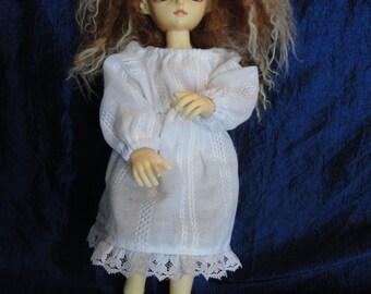 Yo-sd  bjd Chemise Dress White Long Sleeve