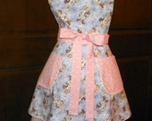 Retro Style Double Skirt Lined Bib Apron Beautiful Minnie Dreams