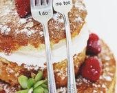 I Do, Me Too - Vintage Wedding Cake Forks (Matching Set)