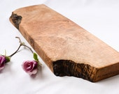 Long, Extra Thick Wooden Cutting Board, Natural Edge Salvaged Maple 955, Ready to Ship