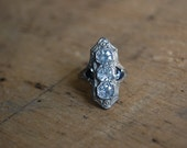 Art Deco north south costume ring ∙ antique costume ring