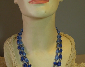 Vintage Trifari Cobalt Necklace