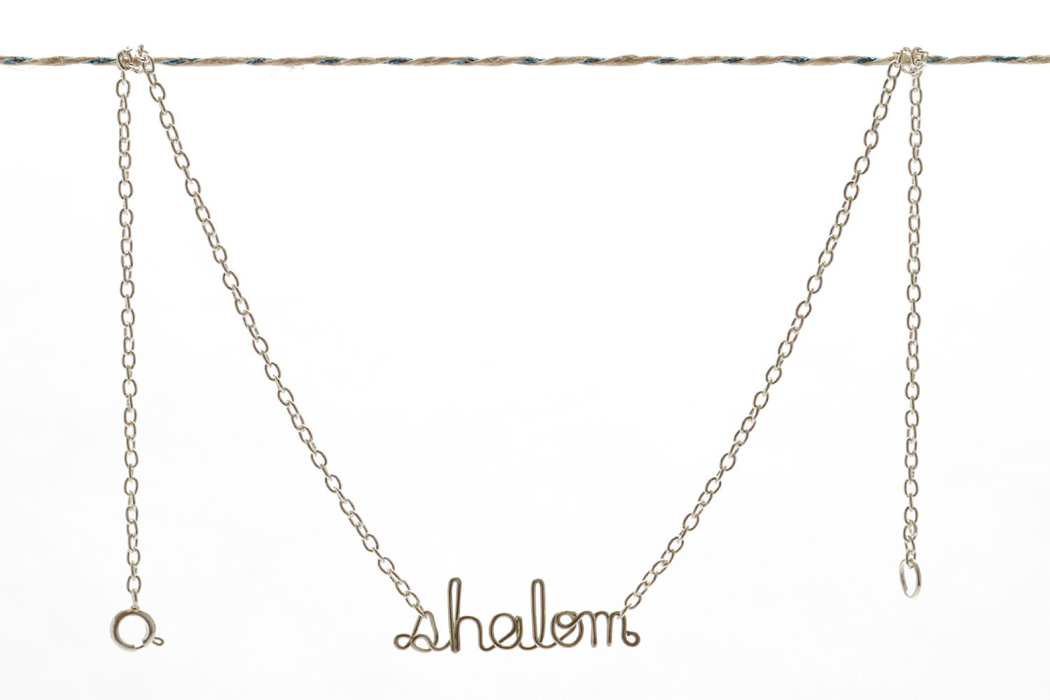 Shalom Necklace - Hebrew Peace Blessing Jewelry - Gift for a Jewish Friend, Co-worker, Mom Unique Christmas Gift