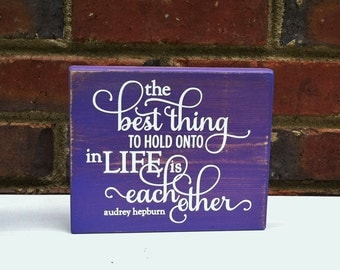 Sign Wedding Engagment Distressed  sign The best thing Quote Gift or Wedding reception decor