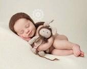 Custom Listing for Holly, Newborn Photo Prop Bunny & Bonnets Set, Knit Newborn Mohair Bonnet, Newborn baby Photography Prop,