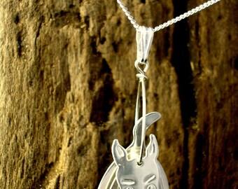 Sterling silver 3D Scottie Dog Pendant