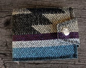 Chevron Stripe Navajo Inspired Wallet- Vintage Fabric vegan