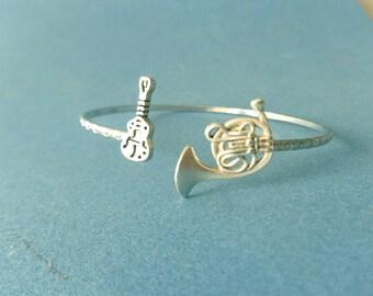 Guitar horn music bracelet cuff wrap style