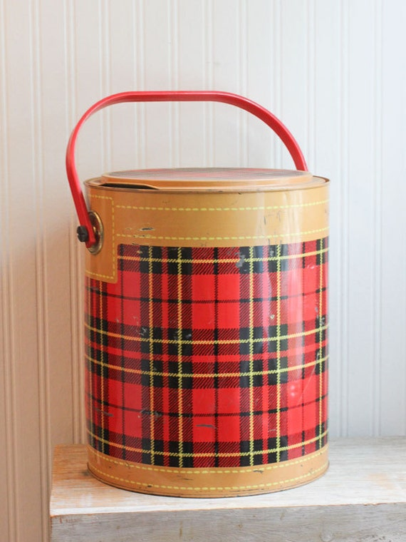 Plaid Cooler Skotch Kooler Vintage Cooler Barrel Cooler
