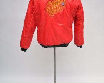 vintage racing jacket SUPER CHEVY SHOW class winner medium puffy