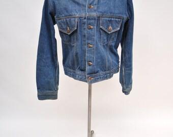 vintage jean jacket vintage LEVIS denim jacket selvedge trucker large