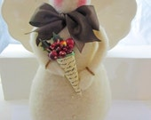 Beautiful and Unique Handmade Snowman Christmas Decoration with Brown Bow