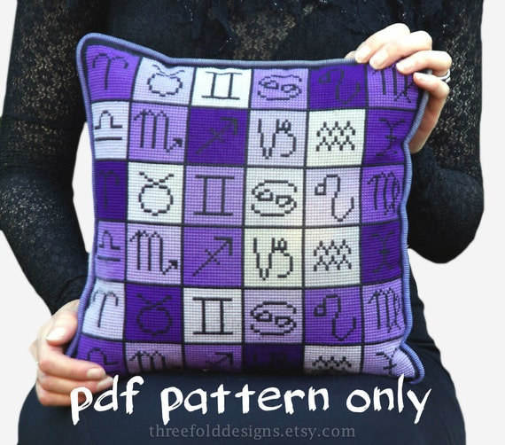 Astrology Zodiac Cross Stitch Pattern PDF