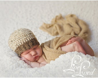 Download PDF crochet pattern 060 - Ribbed beanie - Multiple sizes from newborn through age 4