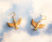 Golden Dove High Polished Gold Filled Earrings