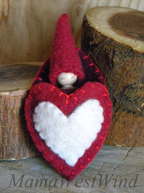 Valentine S Day Vintage Toys : Valentine gnome heart pouch pal s day small