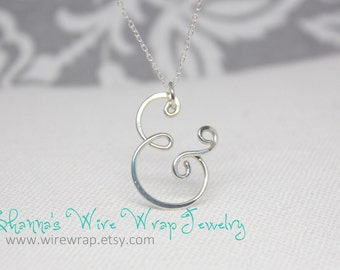 And... Ampersand Necklace and Pendant, Sterling Silver