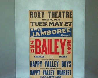 Vintage Theatre Poster, advertising vaudeville, radio comedy act