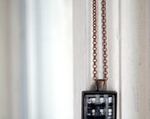 NYC Building Photo Jewelry Necklace, New York City Rectangle Wearable Art, Queens NY Photo Jewelry