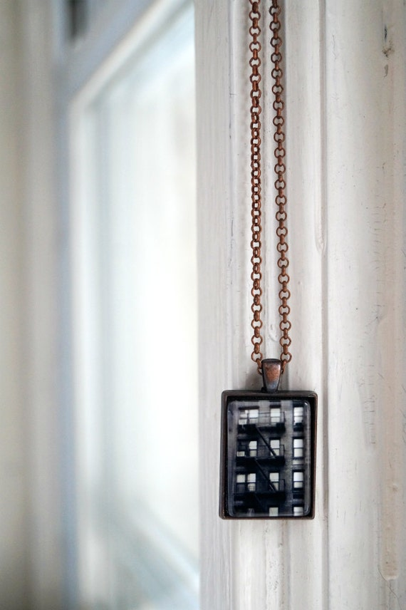 items similar to nyc building photo jewelry necklace new