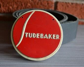 Studebaker Vintage Car Emblem Belt Buckle