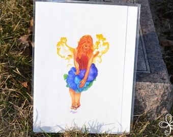 Iris Watercolor Painting PRINT