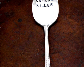 THE ORIGINAL Cereal Killer ™  Spoon by Kelly Galanos for Sycamore Hill. Made to Order.You Choose Size. Teaspoon. Tablespoon. Cream. Gumbo.