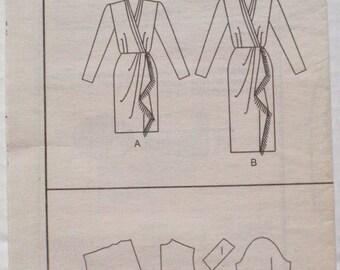 Women's Sewing Pattern - Wrap Dress - Butterick 3006 - Sizes 12-14-16, Bust 34 - 38, Uncut, NO ENVELOPE