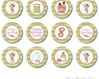 PRINTABLE Girl Spa Party Circles (Character of your choice) #586