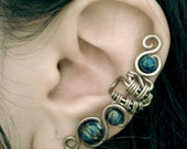 SALE - Steampunk Blue Ear Cuff