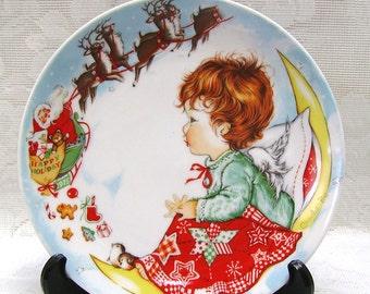 1975 Goebel Christmas Plate - 3rd Edition - Charlot Byj - W Goebel-Porzellanfabrik - Redheaded - Child - Angel